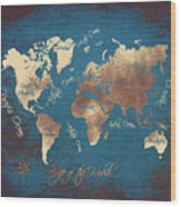 World Map 2065 Wood Print