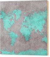 World Map 39 Wood Print