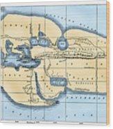 World Map: Eratosthenes Wood Print