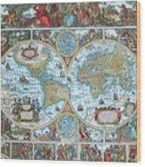 World Map Wood Print