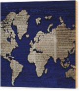 World News Wood Print