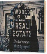 World Real Estate Chicago Wood Print