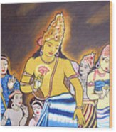 World Renowned Ajanta Painting  Wood Print