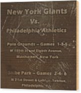 World Series 1913 Wood Print