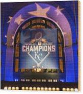 World Series Champs Wood Print