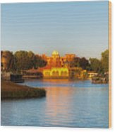 World Showcase Lagoon Before The Show Walt Disney World Wood Print
