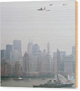 World Trade Center And Opsail 2000 July 4th Uscg Photo 17  Wood Print by Sean Gautreaux