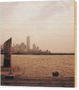 world Trade Center From Pier Wood Print