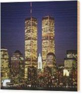 World Trade Center Wood Print by Gerard Fritz