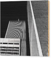 World Trade Center Pillars Wood Print