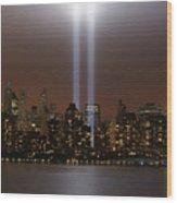 World Trade Center Tribute In Light Wood Print