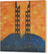 World Trade Towers  Wood Print