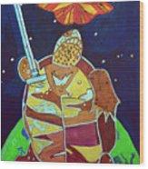 World Turtle King Of Swords Wood Print
