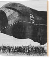 World War I: Airship Wood Print