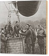 World War I: Balloon Wood Print
