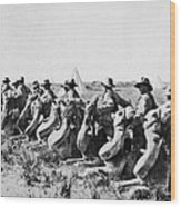 World War I: Camel Corps Wood Print