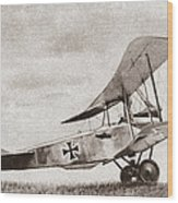 World War I: German Biplane Wood Print