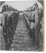 World War I: German Troop Wood Print