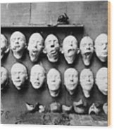 World War I Masks, 1918 - To License For Professional Use Visit Granger.com Wood Print