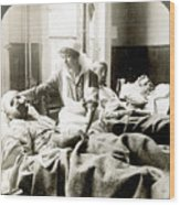 World War I: Nurse Wood Print