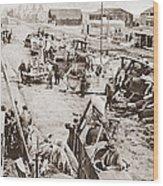 World War I: Plane Repair Wood Print