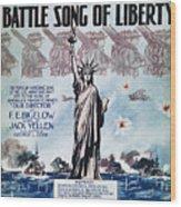 World War I: Song Sheet Wood Print