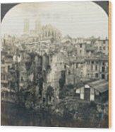 World War I: Verdun Ruins Wood Print