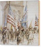 World War I: Victory Parade Wood Print