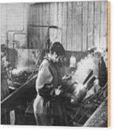 World War I: Women Workers Wood Print