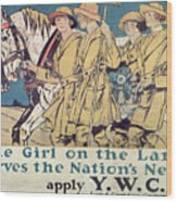 World War I Ywca Poster  Wood Print