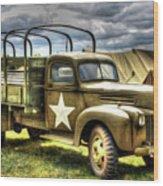 World War II Army Truck Wood Print