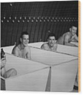 World War II Bath Time For Guys Wood Print