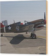 World War II Plane P-40 Thunderbolt Wood Print