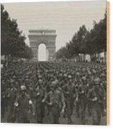 World War II. The Liberation Of Paris Wood Print