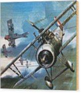 World War One Dogfight Wood Print