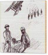 World War One Sketch No. 2 Wood Print