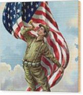 World War One Soldier Wood Print