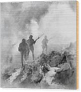 World War Two Battle By John Springfield Wood Print