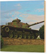 World War Two Tank Wood Print
