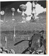 Book Illustation - World War Zero Wood Print