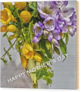World's Greatest Mom Mother's Day Card Wood Print