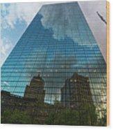 World's Largest Canvas John Hancock Tower Boston Ma Wood Print