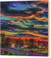 World's Most Psychedelic Autumn Sunsset Wood Print