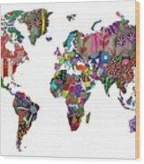 Worldwide Wood Print