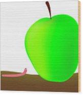 Worn And Apple Wood Print