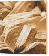 Worn Life Wood Print