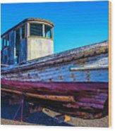 Worn Weathered Boat Wood Print