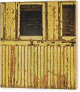 Worn Yellow Passanger Car Wood Print