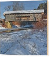 Worrall Covered Bridge Wood Print
