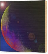 Worshiped Moon Wood Print
